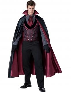 Eleganter Dracula Deluxe Kostüm Vampir schwarz-bordeaux