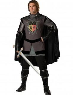 Schwarzer Ritter Mittelalter Kostüm schwarz