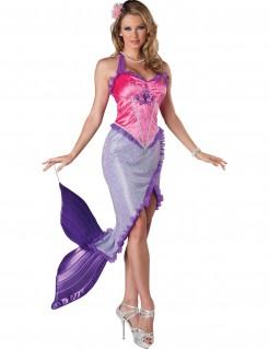 Meerjungfrau Damen-Kostüm violett-rosa