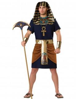 Pharao Herrenkostüm blau-braun-gold