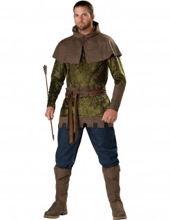 Premium Robin Hood-Herrenkostüm Mittelalter grün