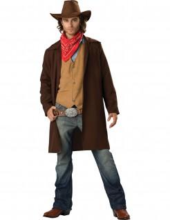 Kostüm Cowboy für Herren Premium braun-rot