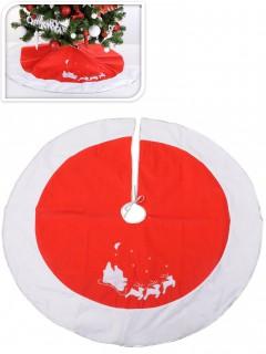 Weihnachtsbaum-Schmuck Weihnachtsdeko rot-weiss 120cm