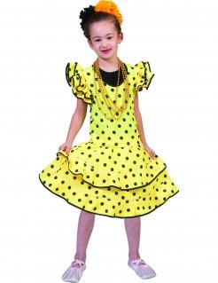 Flamencokleid Kinderkostüm gelb