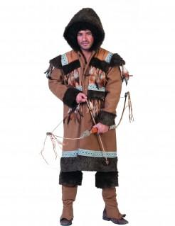 Schönes Eskimo-Kostüm für Herren braun-grün