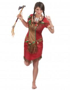 Indianerin Western-Damenkostüm rot