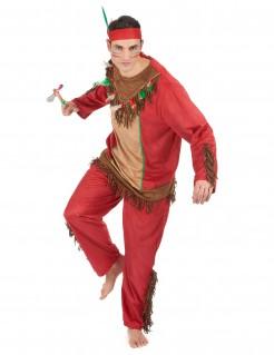 Indianer-Kostüm für Herren rot