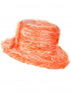Flauschiger Party Plüschhut orange