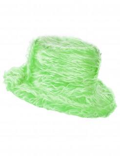 Flauschiger Party Plüschhut grün