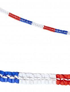 Frankreich Papiergirlanden Fanartikel 2 Stück blau-weiss-rot
