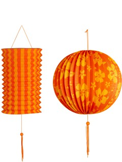 Lampions-Set 2 Stück gelb-orange