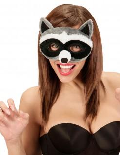 Augenmaske Waschbär mit Fell für Erwachsene