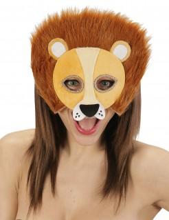 Löwen-Halbmaske mit Mähne für Erwachsene
