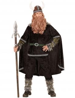 Wikinger Herren-Kostüm Deluxe schwarz-grün