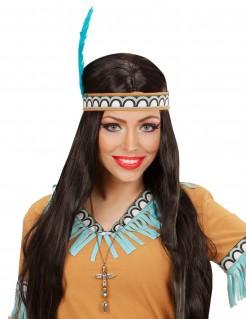 Indianer-Halskette Totempfahl Wildwest-Schmuck gold
