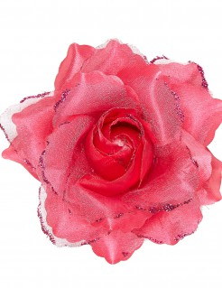 Rose Haarspange pink
