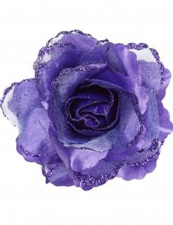 Rose Haarspange violett
