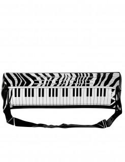 Aufblasbares Keyboard Kostümzubehör weiß-schwarz