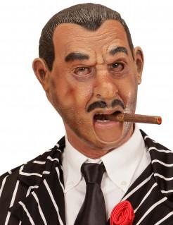 Latex-Maske Gangster Kostümzubehör hautfarben