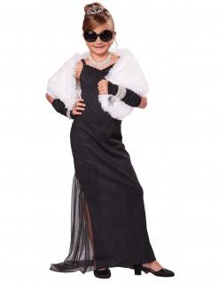 Mädchen-Kostüm Diva schwarz
