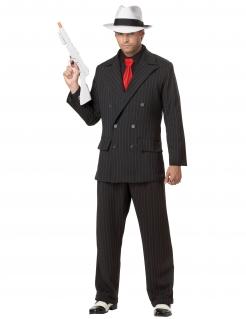 Kostüm Mafioso für Herren schwarz-rot