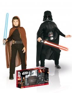 Jedi & Darth Vader Star Wars Lizenz-Kostüme schwarz-braun