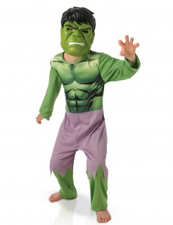 Hulk Avengers Lizenzkostüm für Kinder grün-lila