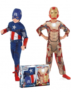 Kostüm-Set Captain America™ und Iron Man™ Kinderkostüme bunt
