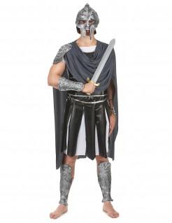 Zenturio Römischer Kaiser Kostüm schwarz-weiss-silber