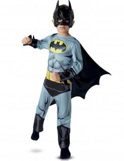 DC Batman Superhelden Kinderkostüm Deluxe Lizenzware grau-schwarz-gelb