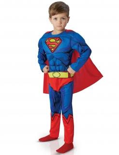 Jungen-Kostüm Superman™ Comic Deluxe blau-rot
