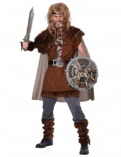 Wikinger Krieger Kostüm Mittelalter braun