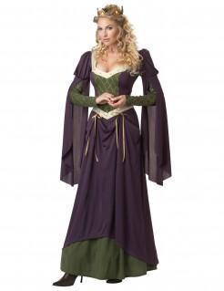 Burgfräulein Prinzessin Damenkostüm Mittelalter lila-grün
