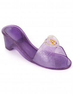 Rapunzel-Pantoffeln für Mädchen violett mit Glitzer