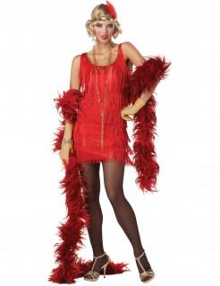 20er-Jahre Charleston Damenkostüm Flapper rot