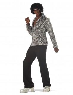 Disco Kostüm Partyoutfit Herren schwarz-weiß