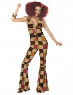 Funky Disco Queen Damen-Kostüm bunt