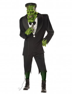 Frankenmonster Halloweenkostüm Ungeheuer schwarz-grün
