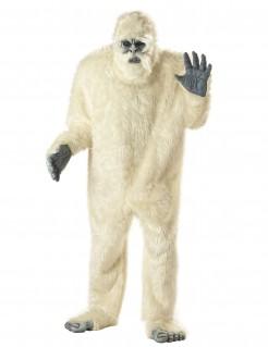 Schneemensch Yeti Plüsch Kostüm weiss