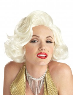 Marilyn Monroe Perücke Lizenzartikel blond