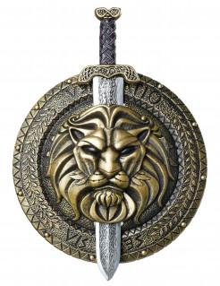 Gladiator Schutzschild und Schwert 2-teilig bronze-silber