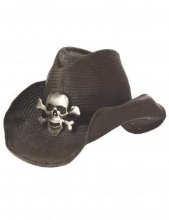 Cowboyhut Totenkopf dunkelbraun