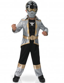 Power Rangers™ Silver Super Mega Force Kinderkostüm schwarz-silber