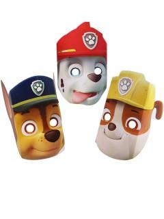 Paw Patrol Masken-Set aus Pappkarton Lizenzartikel 8-teilig bunt 22cm
