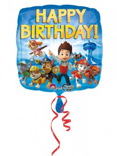 Paw Patrol™ Happy Birthday Folien-Ballon blau-bunt