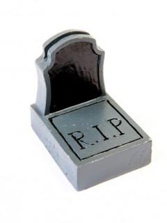 Namensschild Grabstein Tischdekoration Halloween schwarz-grau