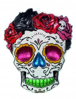 Sugar Skull Halloween-Deko weiss-bunt 60cm