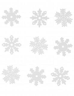 Selbstklebende Schneeflocken Weihnachstdekoration 9-teilig weiß