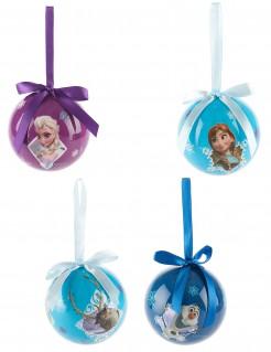 Disney Frozen Die Eiskönigin Weihnachtsbaum-Kugeln 4 Stück bunt 7,5cm