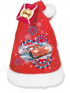 Weihnachtsmütze Cars für Kinder Lizenzartikel rot-weiß 45cm Umfang